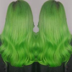 🍏🥝🥒🍐🍈🐦🐸🐊🐢🦎🐍 GREEN HAIR DONT C