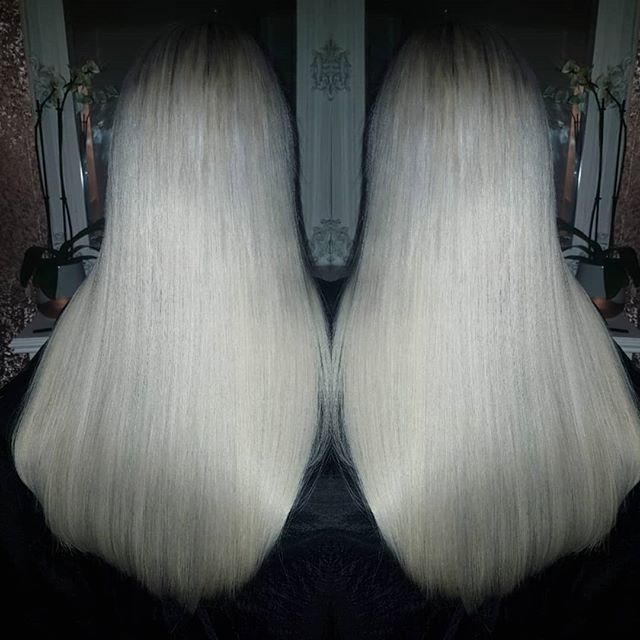 Such a perfect white blonde, custom colo