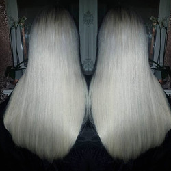 Such a perfect white blonde, custom colo