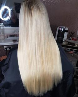 A little blondie mix! _Mini locks in a m