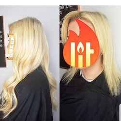 Blondes blondes everywhere! Hair from ye