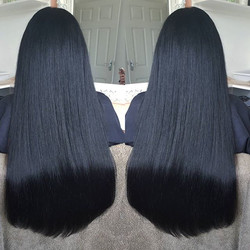 Black hair seems to be so popular at the