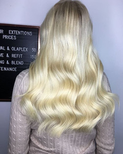 More prebonds mixed blonde 😍😘❤