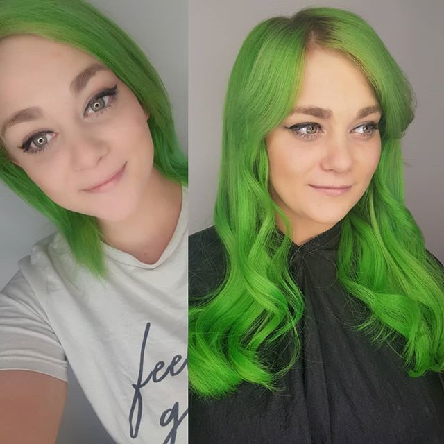 🍏🥝🥒🍐🍈🐦🐸🐊🐢🦎🐍 GREEN HAIR DONT C
