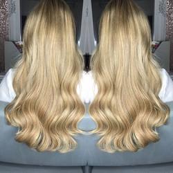 20 inch prebonds blonde mix! ❤❤ #hairext
