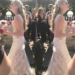Another beautiful bride wearing 20 inch