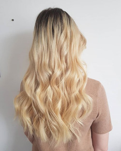 Beautiful tape hair extensions refitted