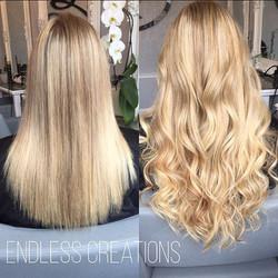 #mini locks #blonde #extensions