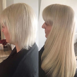 Blonde ultra tip transformation what a d