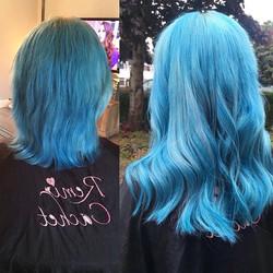 #bluehair #bluehairextensions #blue💙 #h