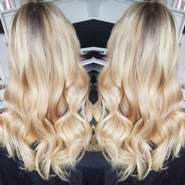 Beautiful blonde tape extensions ❤