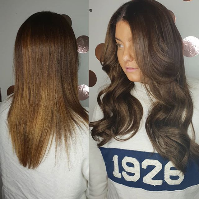 Gorgeous new hair extensions on this bea