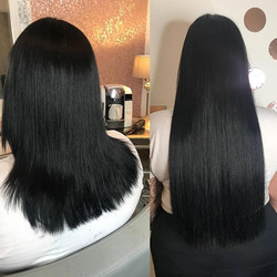 😎🖤💣 Love black shiny hair in the wint