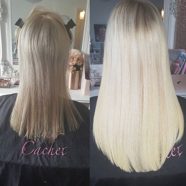What a difference ! #hairextensions #tap