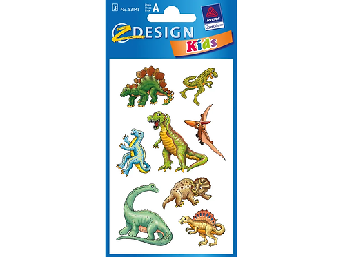 Stickerbogen Dino 3 Stück