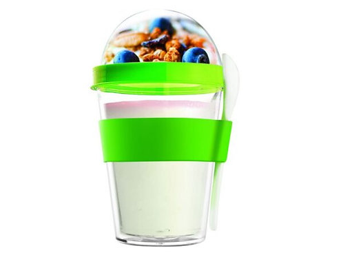 Asobu Yoghurt-/Müslibecher 360ml Grün