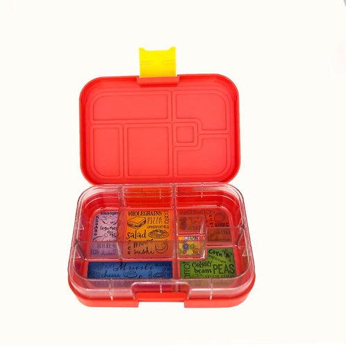 Munchbox mit 6 Unterteilungen Rot