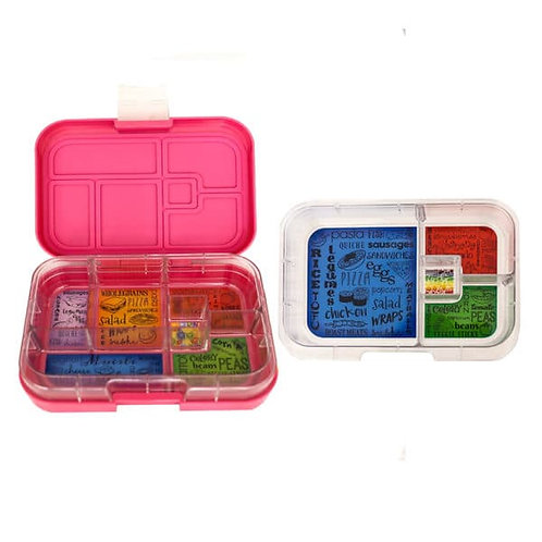 Munchbox Set Pink mit 4 & Unterteilungen