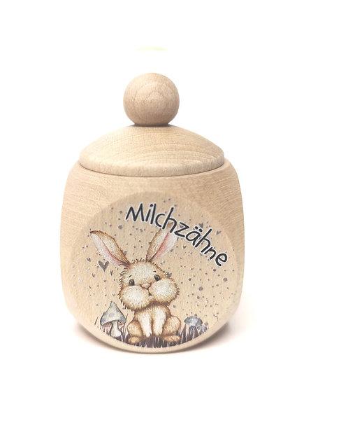 Milchzahndose Hase, Kaninchen, Milchzahndose kaufen, Milchzahndose personalisiert, Milchzahndose