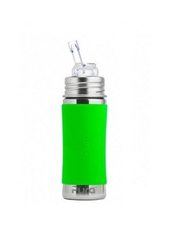 Pura Trinkhalmflasche 325ml Grün