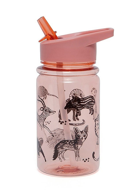 Petit Monkey Trinkflasche Zoo Rosa