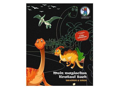 Bastelset Kratzbilder Drachen und Dinos