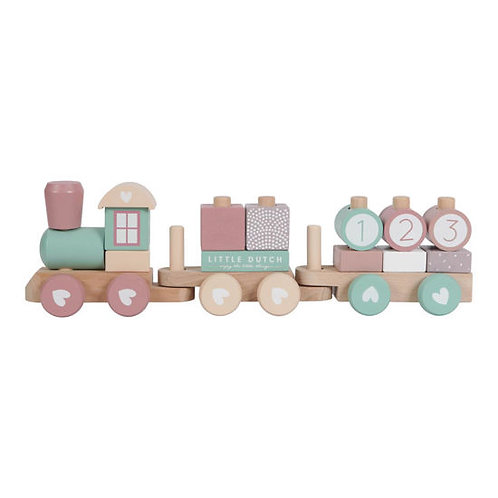 Little Dutch Zug, Little Dutch Eisenbahn, Little Dutch Holz Zug, Little Dutch personalisiert, Little Dutch Lokomotive, rosa