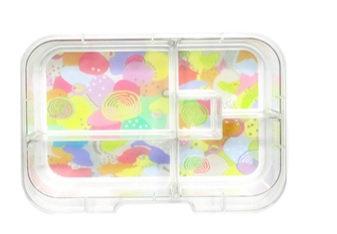 Munchbox Inlay mit 5 Unterteilungen Pastell