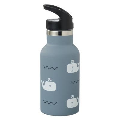 Thermoflasche, Thermoflasche Kinder, Thermotrinkflasche, personalisiert, Eisbär, Fresk, Thermoflasche kaufen,Wal,blau