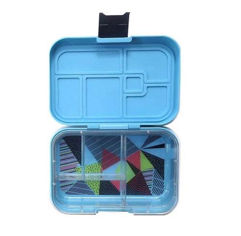 Munchbox mit 4 Unterteilungen Neon Blau