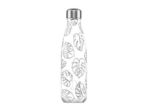 Chilly's 500ml Trinkflasche Line Drawing Leaves