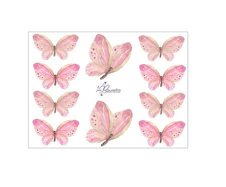 Stickerbogen Schmetterling 5
