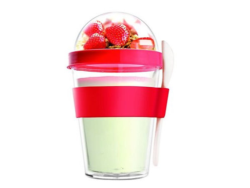 Asobu Yoghurt-/Müslibecher 360ml Rot