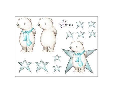 Stickerbogen Eisbär 1
