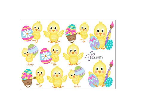 Stickerbogen Ostern 7