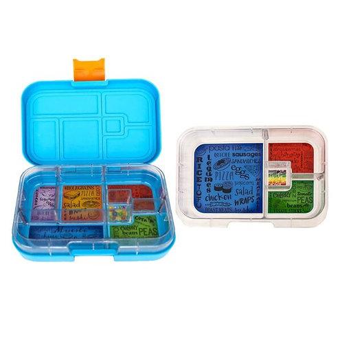Munchbox Set Hellblau mit 4 & 6 Unterteilungen