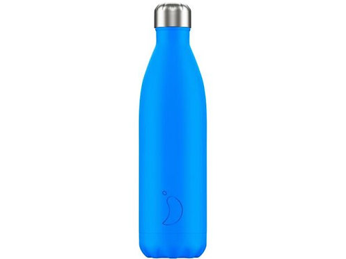 Chilly's 750ml Trinkflasche Neon Blau