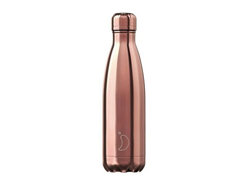 Chilly's 500ml Trinkflasche Chrome Rose Gold
