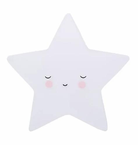 ALLC Nachtlicht Stern Weiss