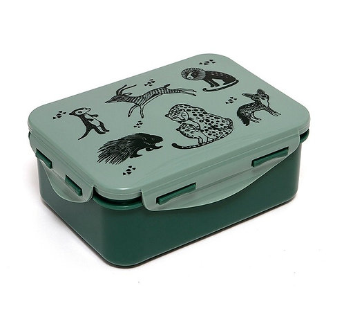 Petit Monkey Lunchbox Zoo Grün