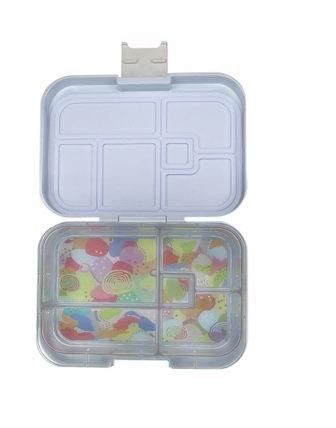 Munchbox mit 5 Unterteilungen Pastell Blau