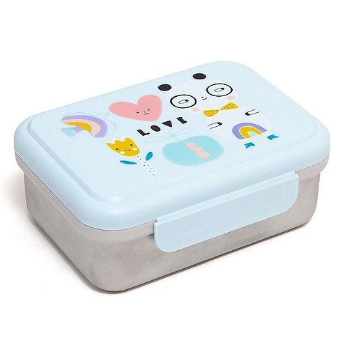 Znünibox Edelstahl, Znünibox personalisiert, Znünibox leicht, Lunchbox Edelstahl, Nachhaltig, Eco, Petit Monkey, blau