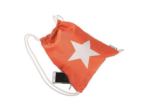 Turnbeutel Stern Orange