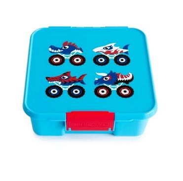 Little Lunch Box kaufen, Little Lunch Box personalisiert, Znünibox leicht, Lunchbox leicht, Monstertruck, blau