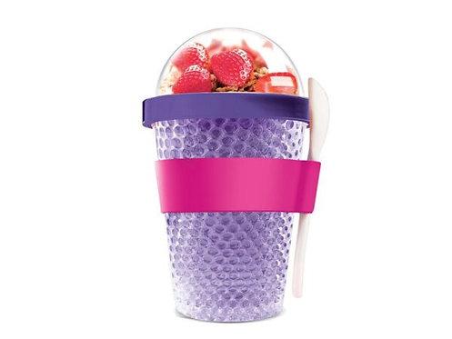 Asobu Thermo Yoghurt-/Müslibecher 390ml Violett