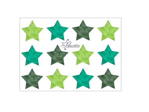 Stickerbogen Stern 12