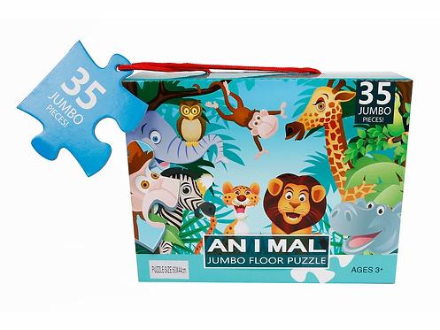 Bodenpuzzle Jungle mit 35 Teile