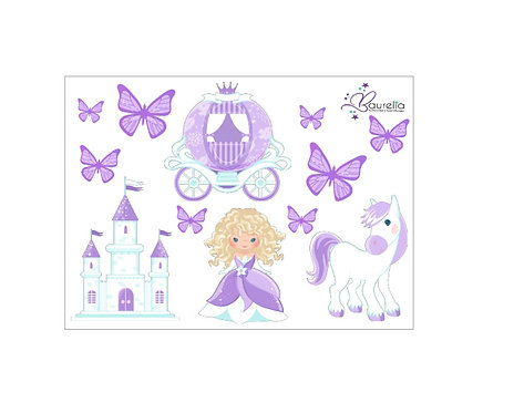 Stickerbogen Prinzessin 1