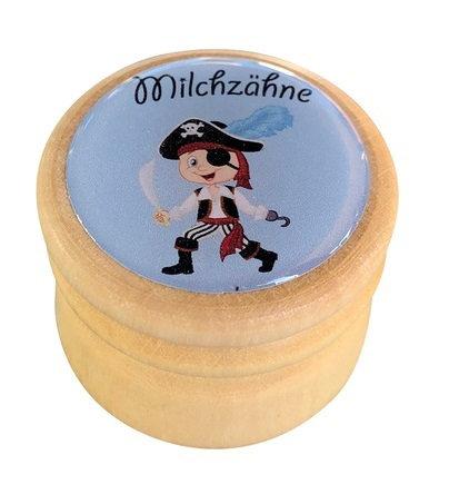 Milchzahndose Pirat, Milchzahndose kaufen, Milchzahndose personalisiert, Milchzahndose