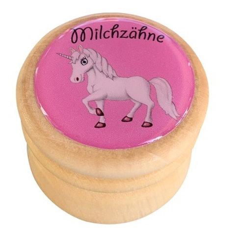 Milchzahndose Einhorn, Milchzahndose kaufen, Milchzahndose personalisiert, Milchzahndose Holz